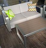 Комплект вуличної плетених меблів Fairy в кольорі Coin з журнального столика, дивана і 2 крісел, фото 3