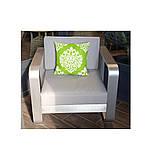 Комплект вуличної плетених меблів Fairy в кольорі Coin з журнального столика, дивана і 2 крісел, фото 4
