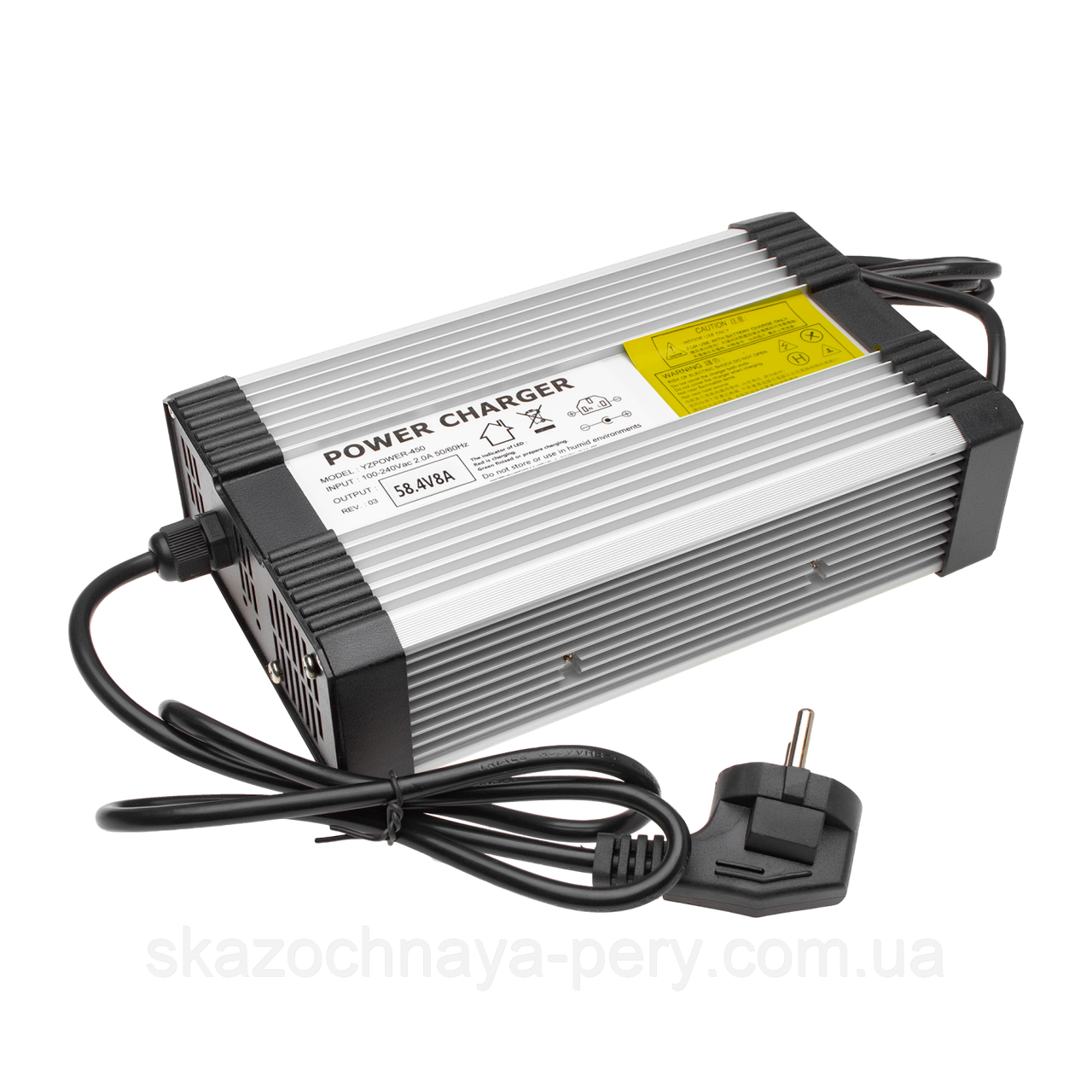 Зарядний пристрій для акумулятора LiFePO4 48V (58.4 V)-8A-384W