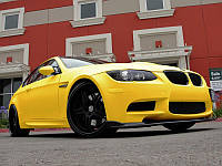 Автомобильная пленка карбон 3D Retner жолтая 1,27