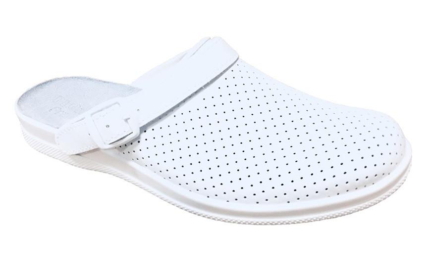 """Тапочки чоловік.Сабо""""Іонел"""" ,білі, з дрібною перфорацією ,модель 95380108"""