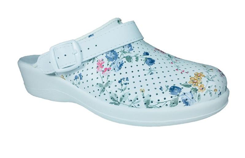 """Тапочки Сабо """"Лера"""" (білі , малюнок квіти), модель 69530130"""