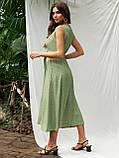 Расклешенное платье-миди без рукавов  в горошек   ЛЕТО, фото 3
