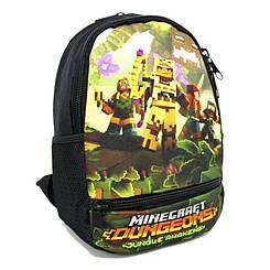 Стильний дитячий дошкільний рюкзак одне основне відділення з щільною спинкою різні принти Розмір: 33х24х13
