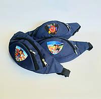 Сумка-бананка з ремінцем дитячі синя щенячий патруль
