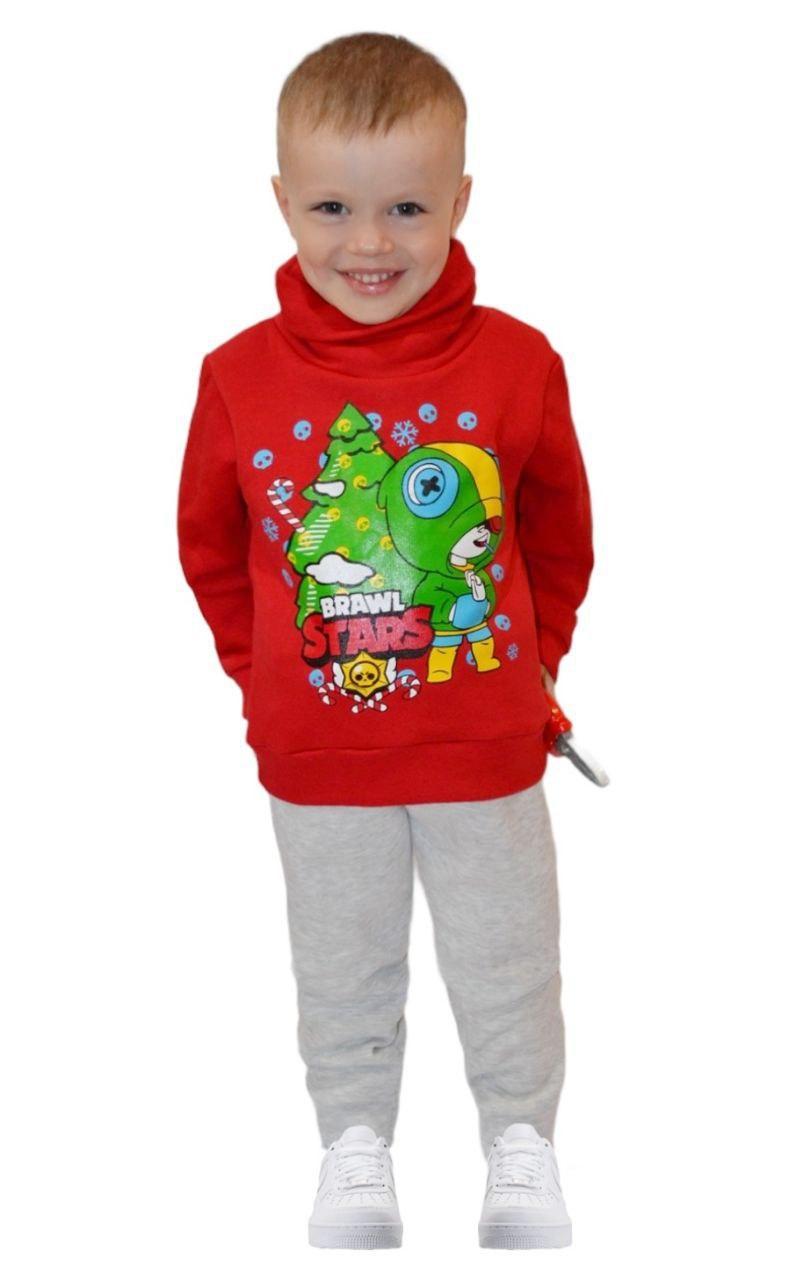 Детский новогодний костюм для мальчика Brawl Star тринитка (начес)