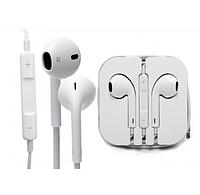 Проводные наушники со стерео звуком микрофоном Bluetooth под iPhone iPod iPad белые Apple EarPods Connector.