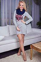 Теплое платье со сьемным хомутом(44-46), доставка по Украине