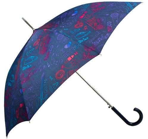 Зонт-трость женский Абстракция полуавтомат AIRTON (АЭРТОН) Z1627-5
