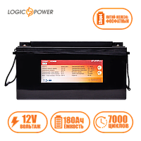 Аккумулятор LP LiFePo-4 12 V - 180 Ah (BMS 80A) пластик
