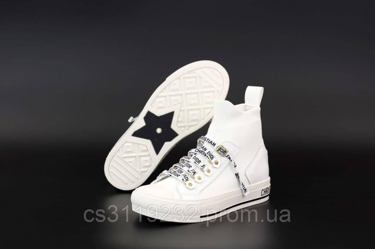 Жіночі кросівки Dior B23 High-Top Sneakers White (білий)