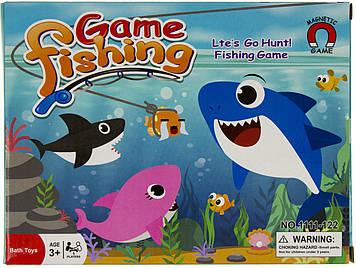 Рибалка 1 вудочка з магнітом,акула 2шт,13см,у кор-ці,21х16х7см №1111-122(48)