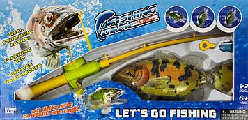 Рибалка 1 вудочка з магнітом,риба 22,5 см плаває,на бат-ці,у кор-ці,43х21х7,5см №66888ABCD