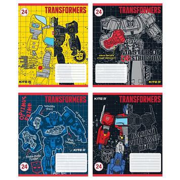"Зошит 12арк. лін. ""Kite"" Transformers №TF20-234(20)(560)"