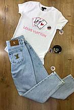 Футболка жіноча XL(р) біла 1569-21 Louis Vuitton Туреччина Літо-D