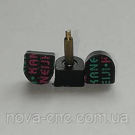 """Набойки на металлическом штыре """"Kaneiji"""" черные, 9mm x 9mm высота 20 мм"""