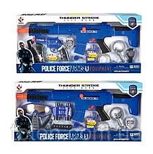 Набір поліції P018AB втомат-тріскачка, маска, 2 види, в коробці