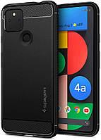 Чехол Spigen для Google Pixel 4a (5G) - Rugged Armor, Matte Black (ACS01885)