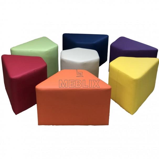 Комплект детских пуфиков Ромашка 7 шт. Мягкая мебель для школы НУШ