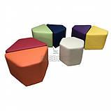 Комплект детских пуфиков Ромашка 7 шт. Мягкая мебель для школы НУШ, фото 3