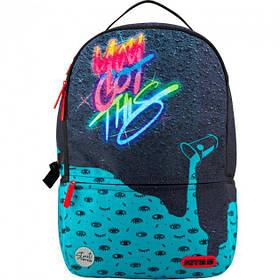 Молодежный городской рюкзак с usb портом с ярким принтом Kite City 2569-5 для подростков (K20-2569L-5)