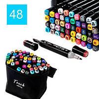 Набор скетч-маркеров 48 шт. Touch Raven для рисования двусторонние профессиональные фломастеры для художника