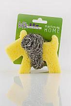 MARTINI SPA Sponge Dog With Inox Spiral Губка кухонна для очищення