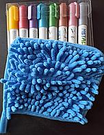 Набор металлик маркеры для грифельных Led досок 8 цветов Sipa Metallic+губка из микрофибры, фото 1