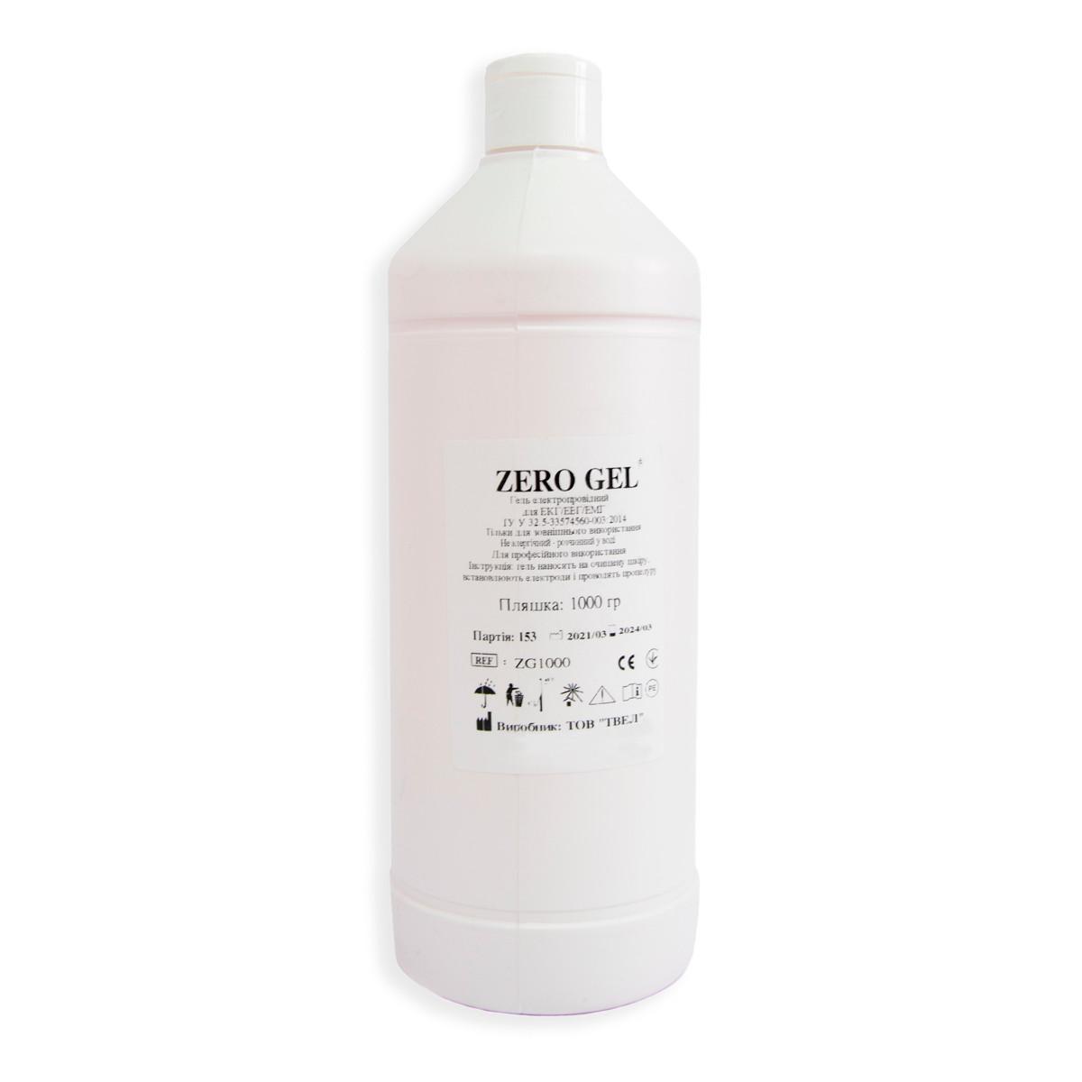Гель Zero gel (1 л) токопроводящий для ЭКГ, УЗИ, ЕЕГ, миостимулятора контактный электродный, медицинский (ST)