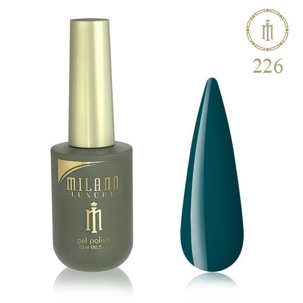 Гель лак MILANO LUXURY 15 мл № 226 (Цвет еловой тени)