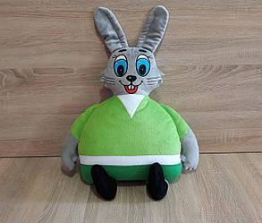 Мягкая игрушка-подушка заяц Ну, погоди ручная работа