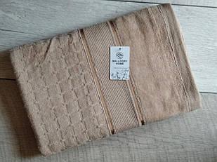 Полотенце банное махровое с полоской 70х140 см  100% cotton производство Турция