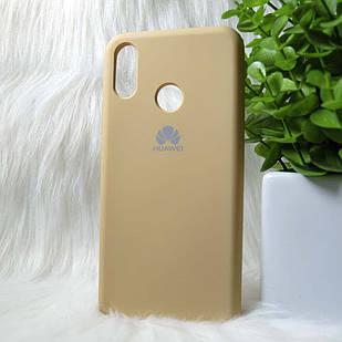 Силиконовый чехол Original Silicone case Huawei P Smart Plus Mint (золотистый) Premium