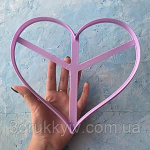 Вирубка ТОРТ - СЕРЦЕ #4 20х23 см. / Вырубка - формочка для торта - сердца, коржей 20 см. / Торт - сердце