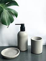 Набір для ванної кімнати (дозатор, мильниця і склянка для щіток), фото 1