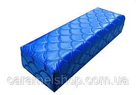 Підлокітник для манікюру підставка для руки ВІЗЕРУНКИ синій