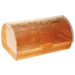 Хлебница Maestro деревянная с прозрачной крышкой