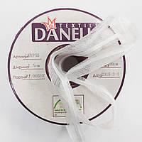 Тасьма в пройму з косою посилена сутажом кол білий 15мм (рул 100м) Danelli LK4YP55 (WK551)