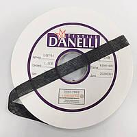 Лента нитепрошивная 15мм черный (рул 100м) Danelli L4YP44