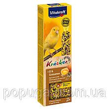 Ласощі для канарок Vitakraft «Kracker Original + Egg & Grass Seeds» 54 р / 2 шт. (яйце і насіння)