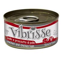 Vibrisse консервы для кошек 140г*4шт (курица и куриная ветчина )