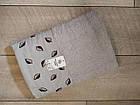 Рушник банний махровий з вишивкою листочки 70х140 см  100% cotton виробництво Туреччина, фото 4