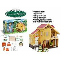 Кукольный дом с набором мебели усадьба