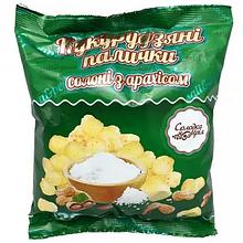 Круп'яні палички солоні з арахісом неглазуровані ТМ Солодка Мрія 100г