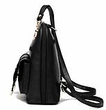 Рюкзак-сумка Sujimima рожевий з окантовкою, фото 2