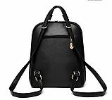 Рюкзак-сумка Sujimima рожевий з окантовкою, фото 3
