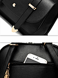 Рюкзак-сумка Sujimima рожевий з окантовкою, фото 7