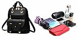 Рюкзак-сумка Sujimima рожевий з окантовкою, фото 9