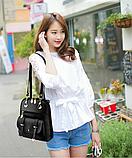 Рюкзак-сумка Sujimima рожевий з окантовкою, фото 10