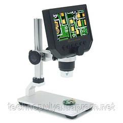 Электронный микроскоп Gaosuo M-600x с LCD экраном и металлическим предметным столиком Белый (100283)